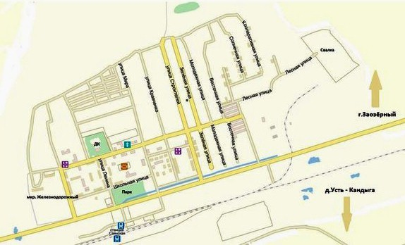 Карта улиц