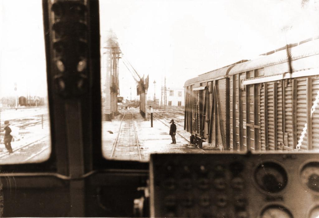 1980 год. Вид с рабочего места машиниста электровоза