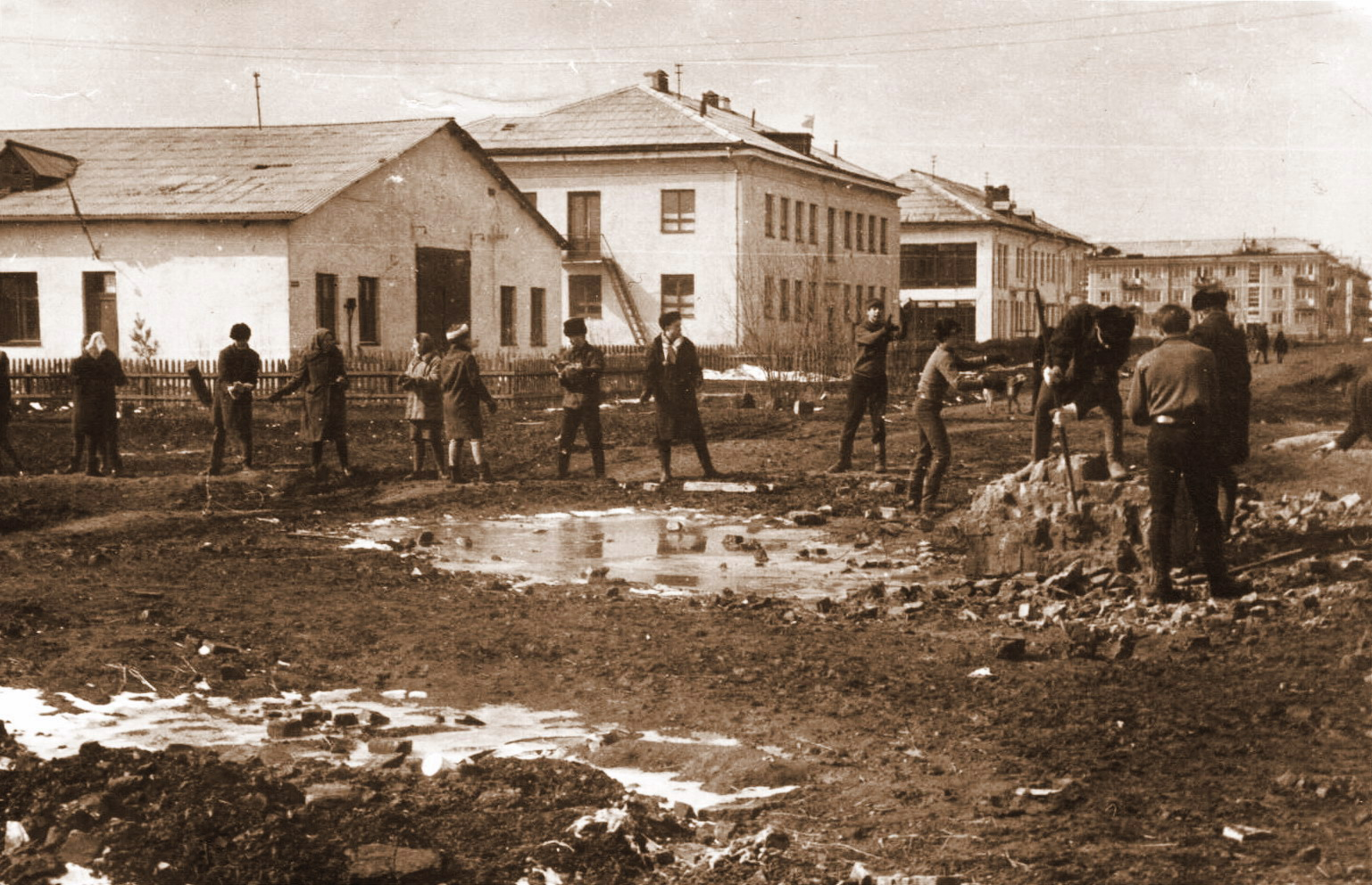 Субботники на улицах во время осени картинки