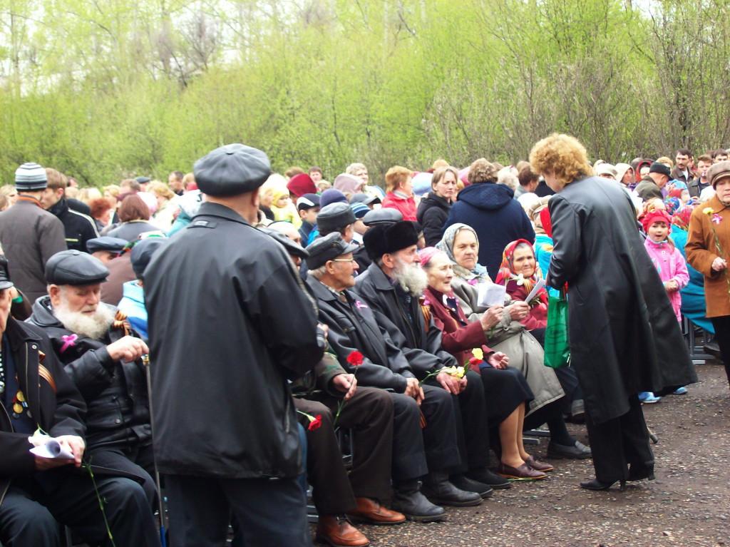 Поздравление ветеранов. 2007 год