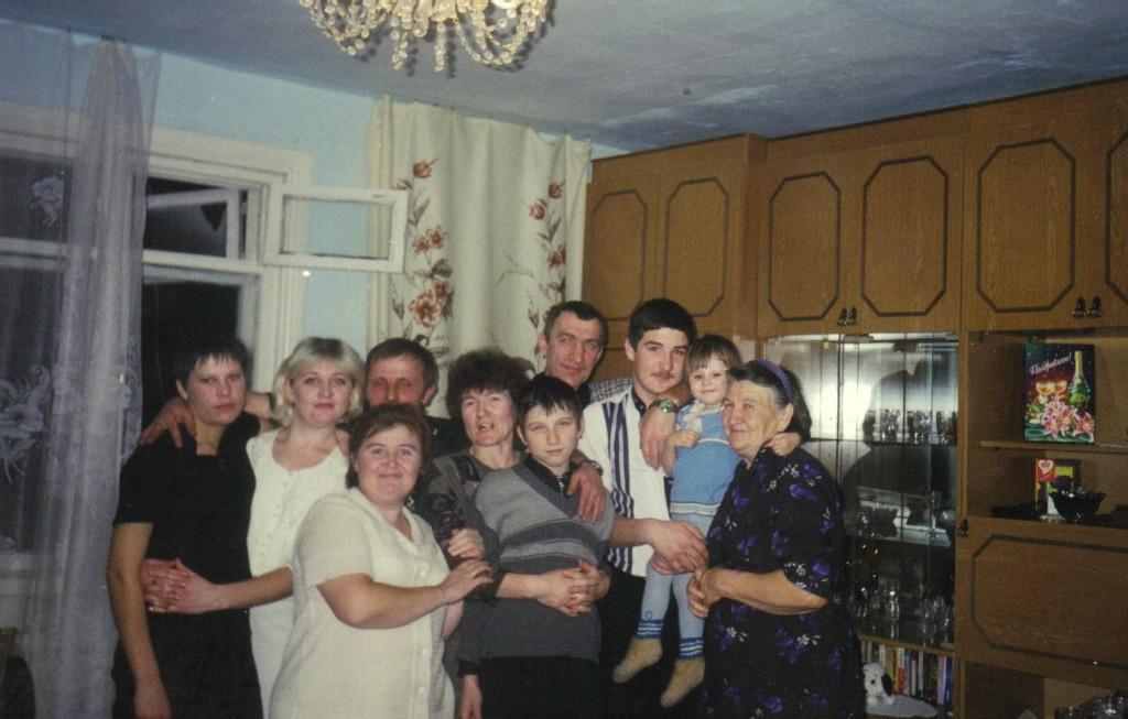 Сергей в кругу родных и близких