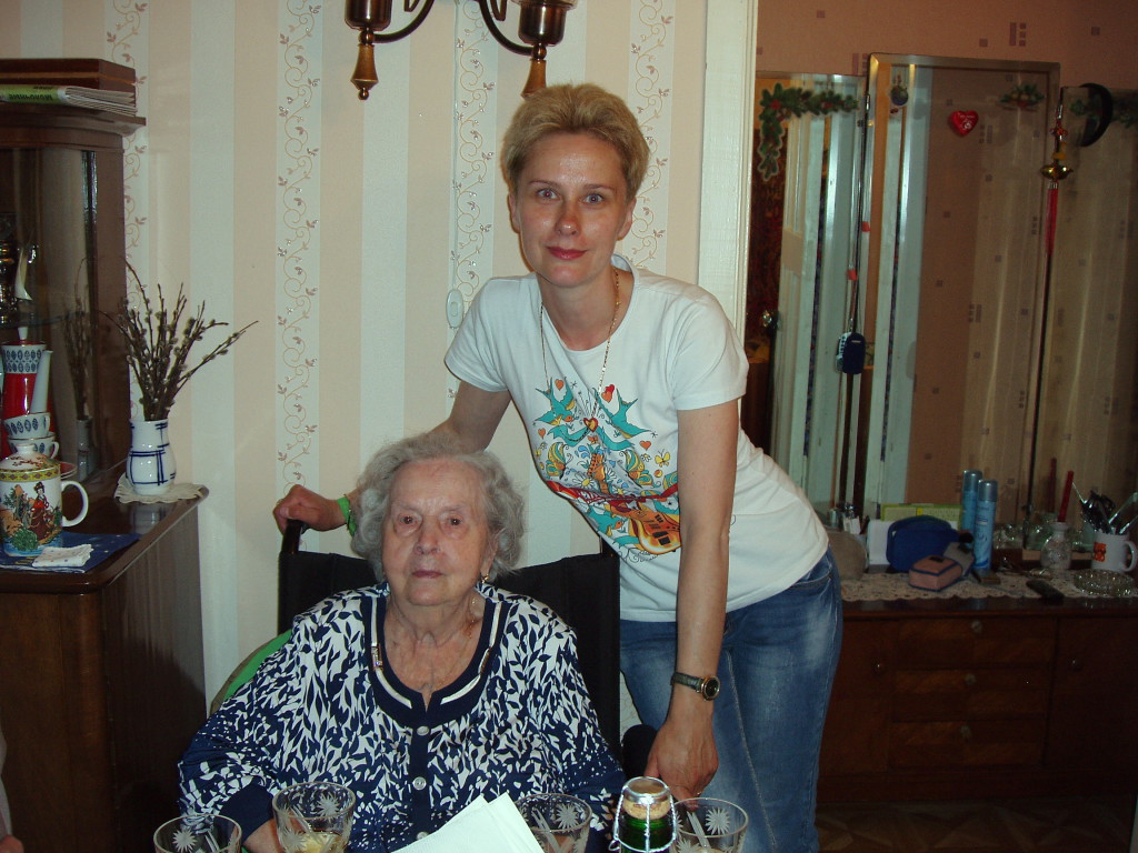 90-летний юбилей Марксаны Андреевны, Яна с бабушкой
