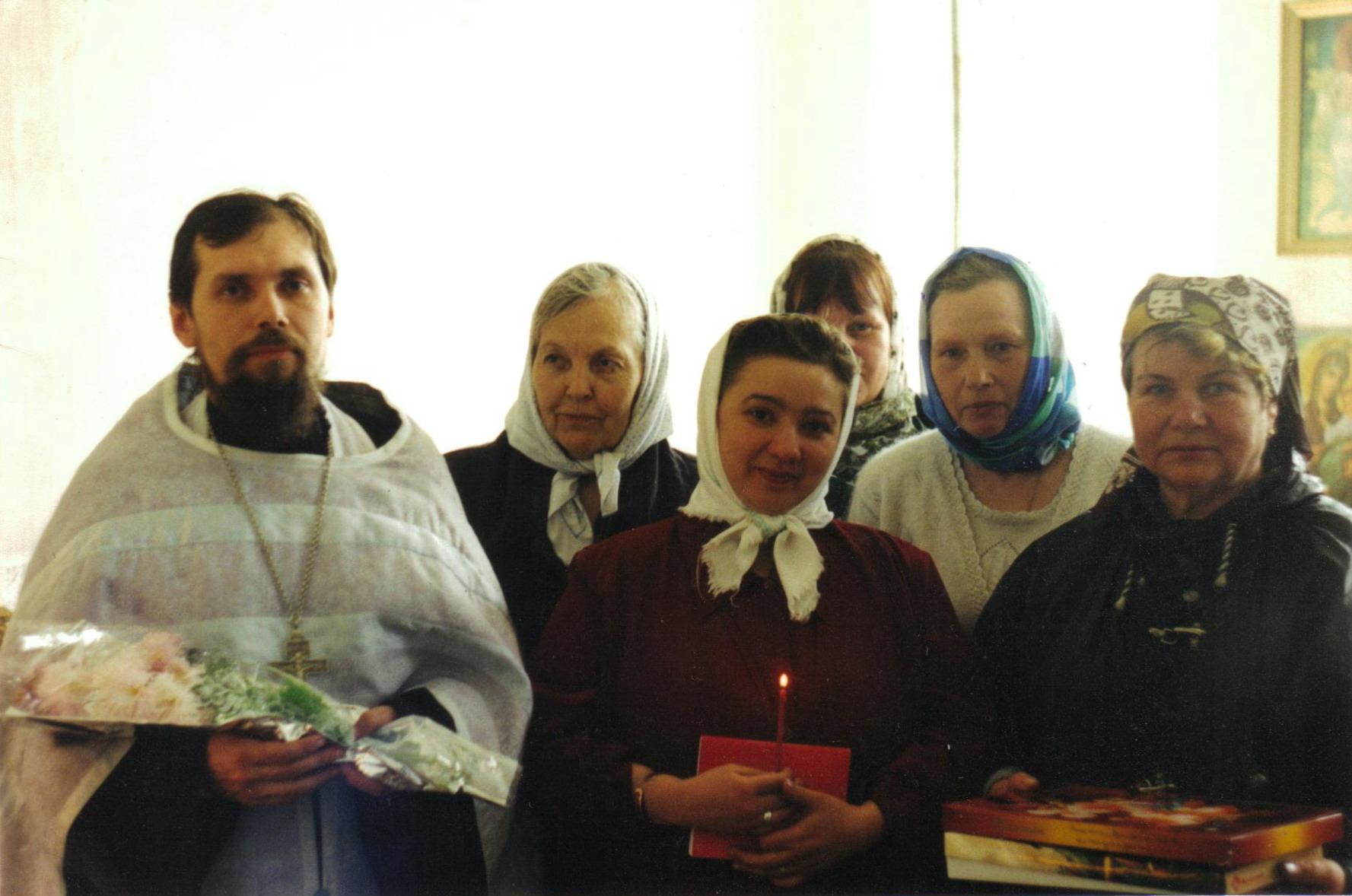Отец Андрей Беляев с матушкой Ангелиной Осень 2001 года