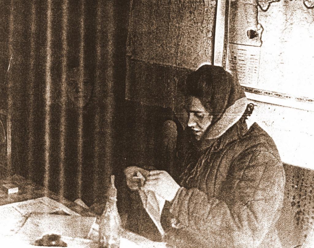 1961 год Нижний Ингаш. Билетная касса Место работы Валентины Михайловны