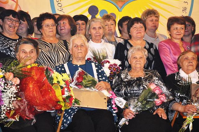 В первом ряду: Майкова Мария Степановна, Горькова Валентина Макаровна, Широкова Зинаида Фёдоровна, Липко Евгения Карповна