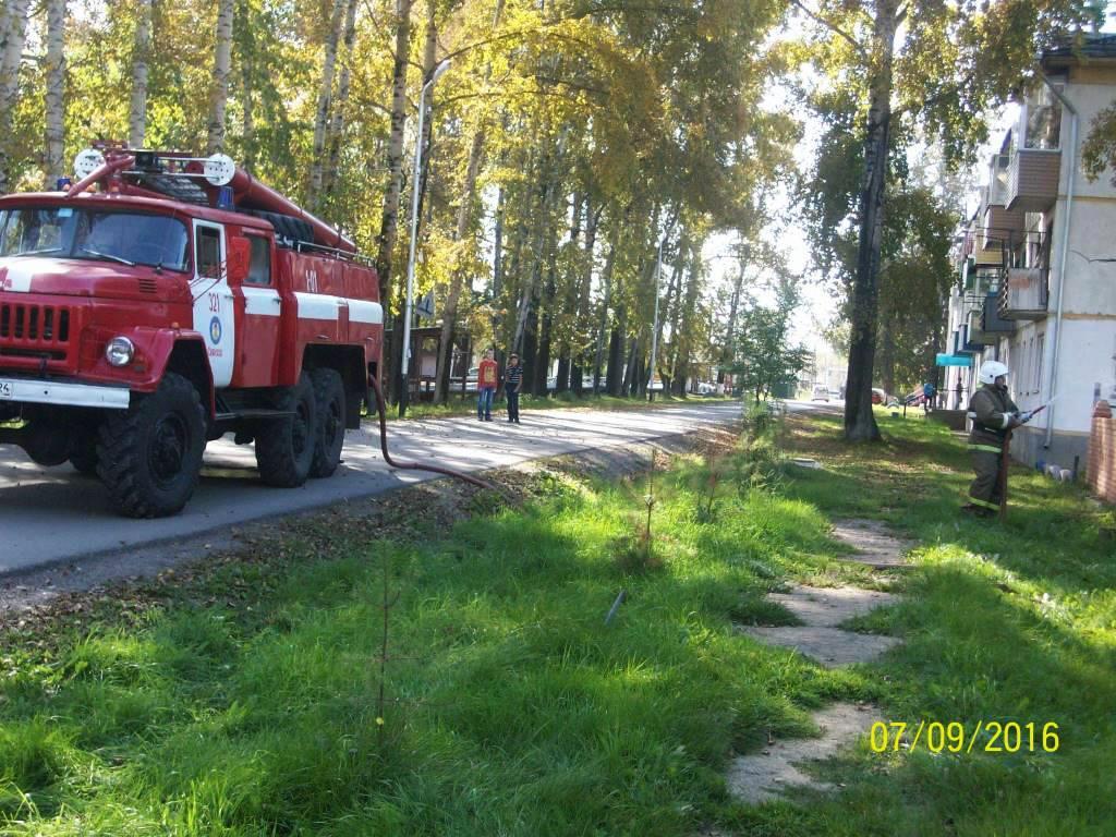 Учебная эвакуация учащихся Саянской средней школы