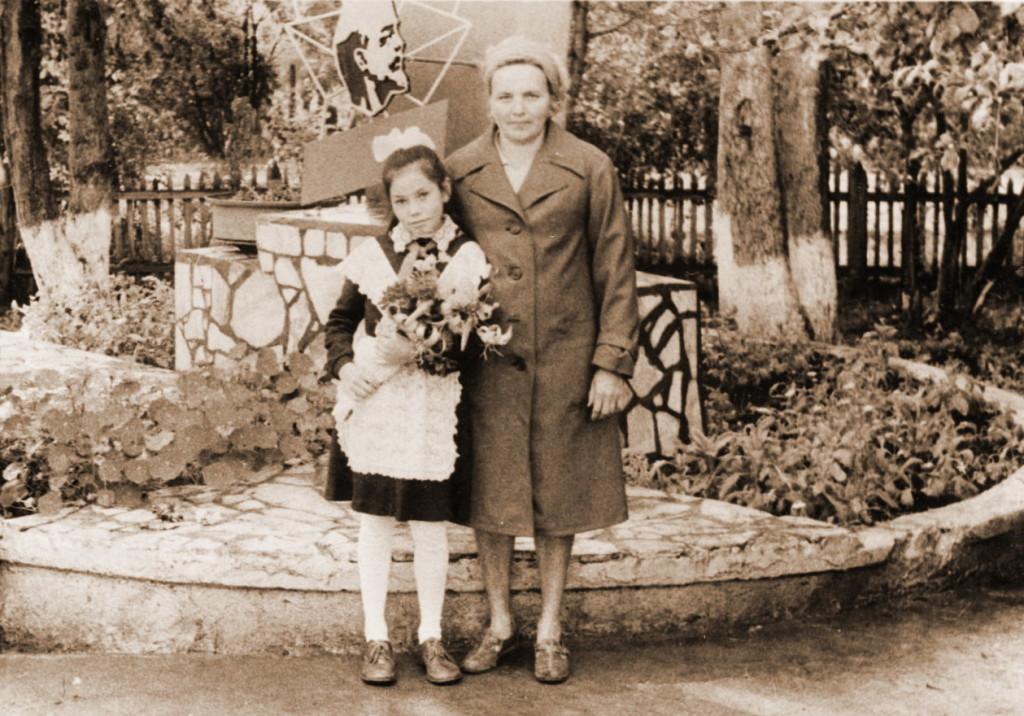 Галя Семёнова с мамой Ниной 1980-1990 года